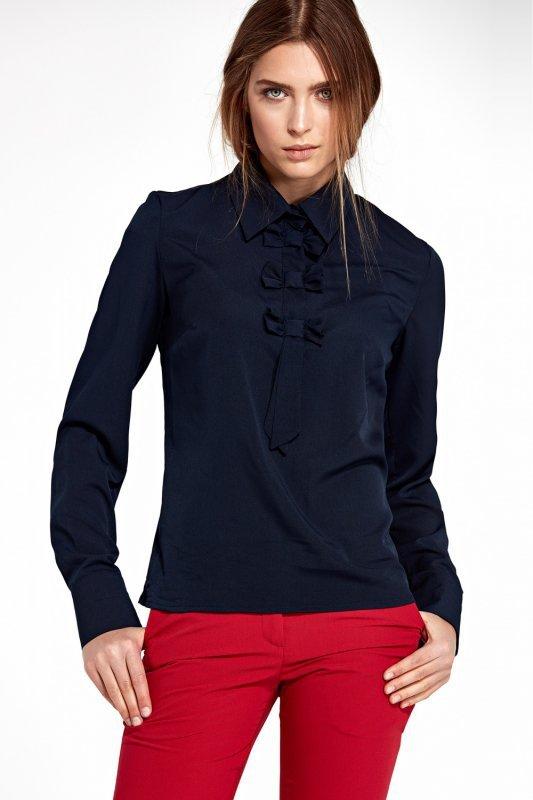 Bluzka z kokardkami B96 Navy - Nife