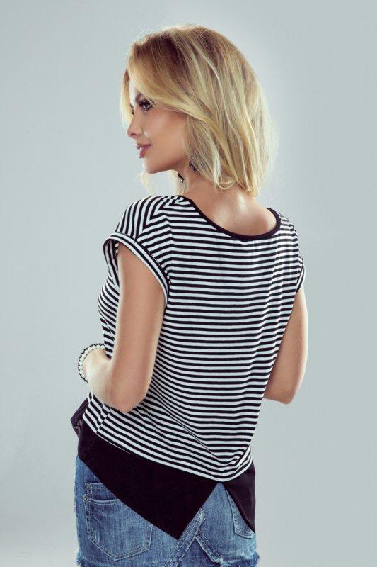 Bluzka Model Natalia White/Black - Eldar