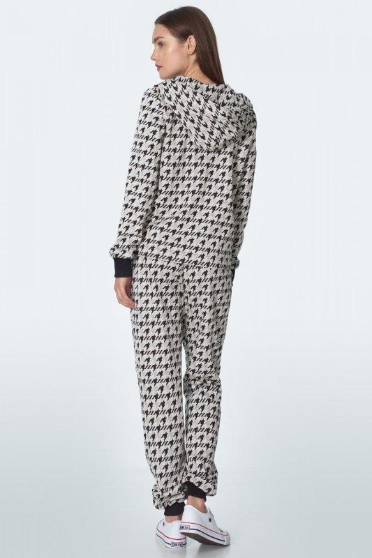 Spodnie dresowe we wzór SD49 Pepitko - Nife