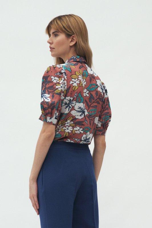 Wiskozowa bluzka w kwiaty B134 Flowers - Nife