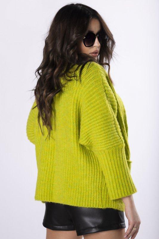 casualowy sweter bez zapięcia