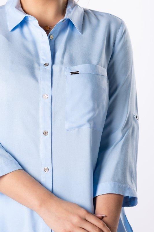 klasyczna koszula z rozcięciami na bokach