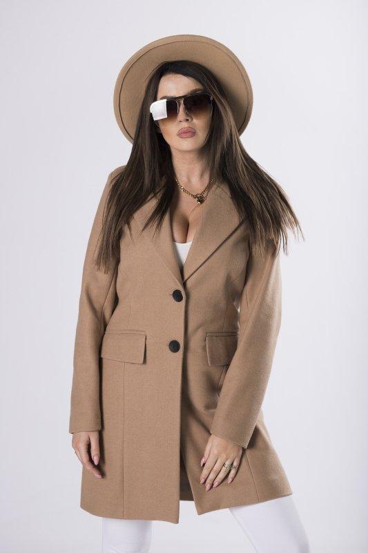 jednorzędowy płaszcz