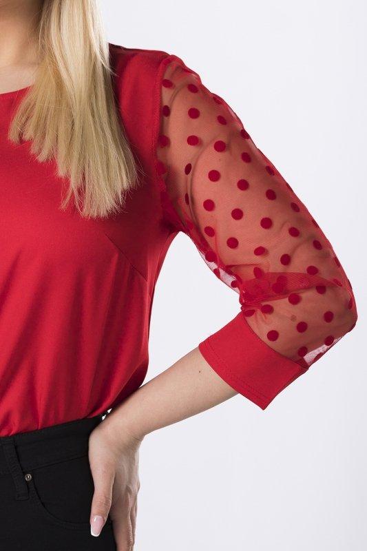 bluzka z tiulowymi rękawami