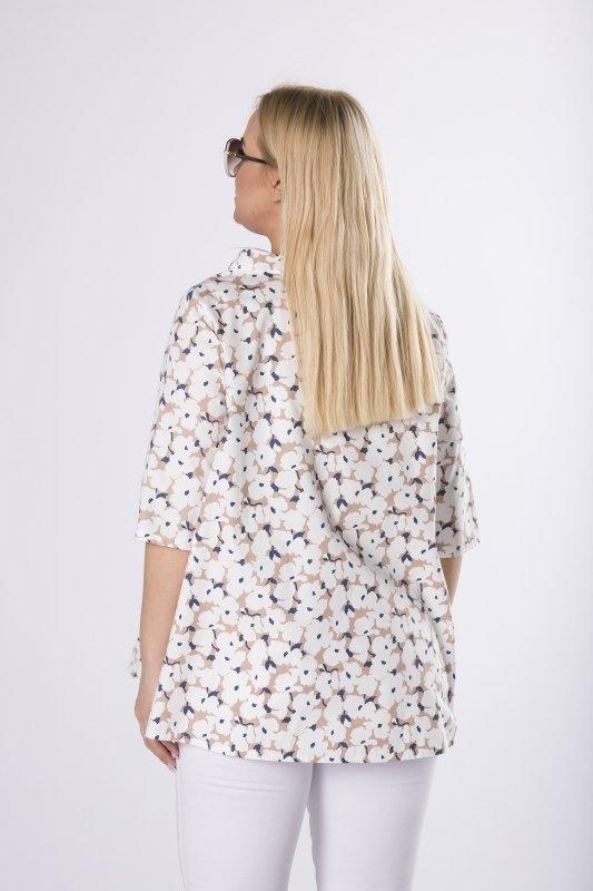 bluzka z florystycznym motywem
