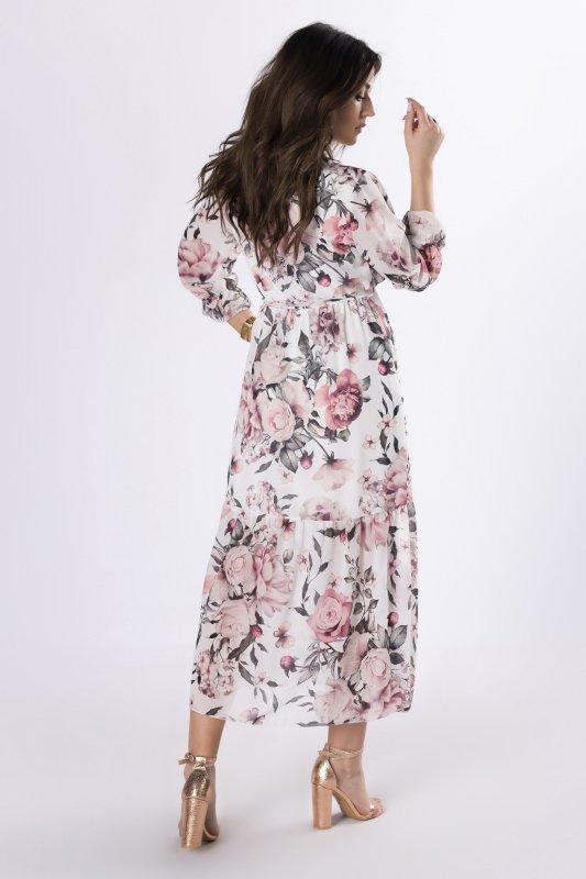 szyfonowa sukienka maxi