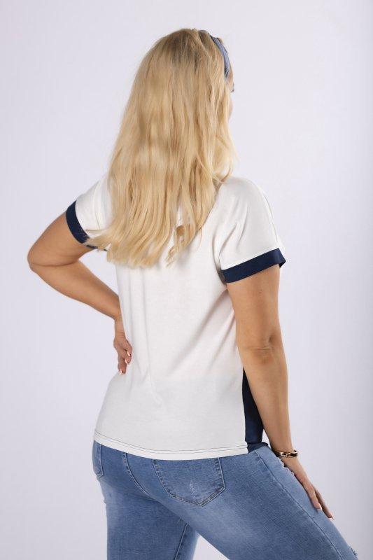 bluzka z aplikacją na biuście