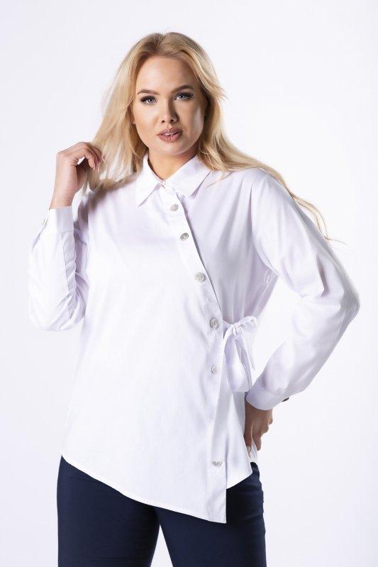 koszula z asymetrycznym zapięciem