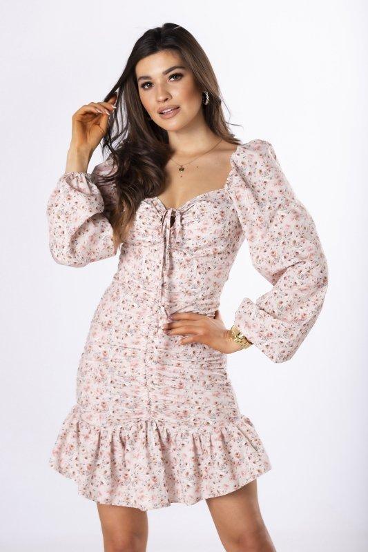 dopasowana sukienka ze ściągaczem