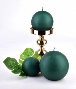 Świeca CLASSIC CANDLES Kula 12cm        zielona