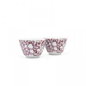Czarki porcelanowe Yantai - 2 szt - czerwone / Bredemeijer