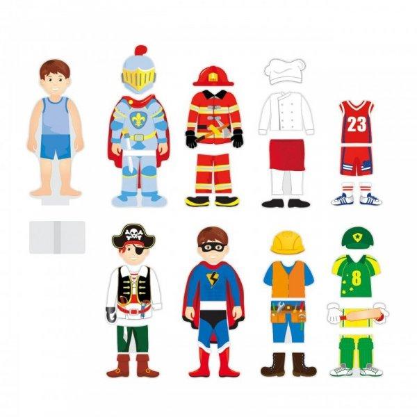 Drewniana Układanka Magnetyczna Ubieranka Edukacyjna 8 Postaci - Viga Toys