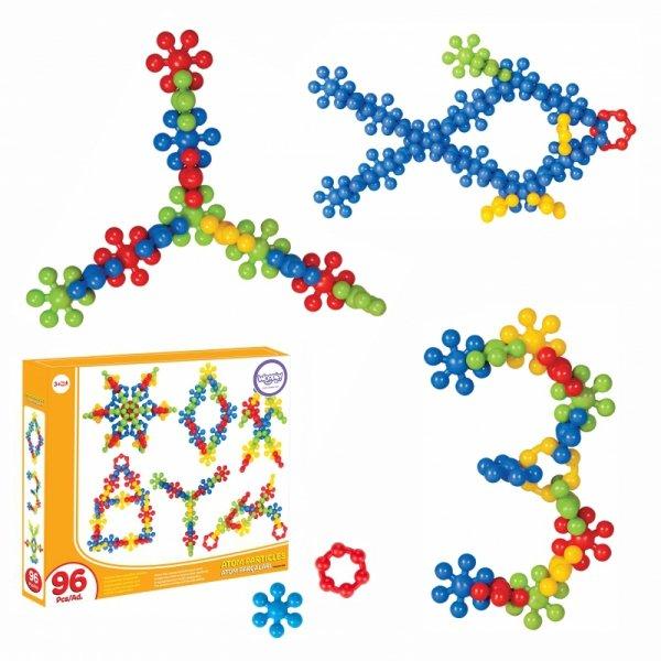 WOOPIE Zestaw Klocków Konstrukcyjnych Atom Cząsteczka 96 El.