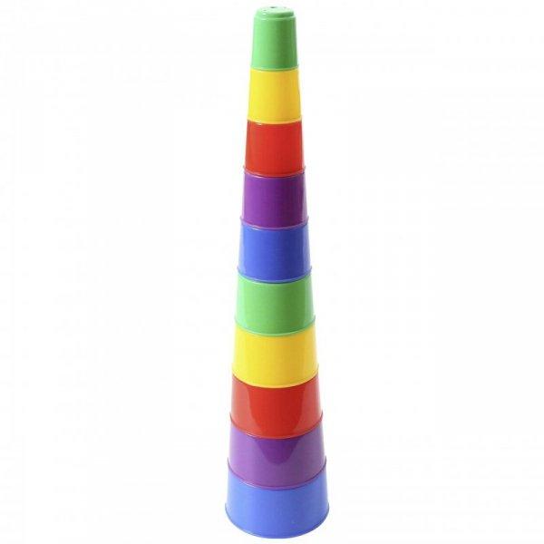 Wader QT Wieża Piramidka Układanka Edukacyjna (10 Kubeczków)