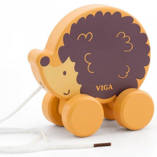 Drewniany Jeżyk do ciągnięcia - PolarB - Viga Toys