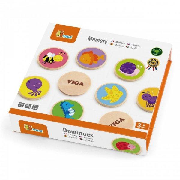 Gra Zapamiętywanie Zwierzątka Memo - Drewniane - Viga Toys