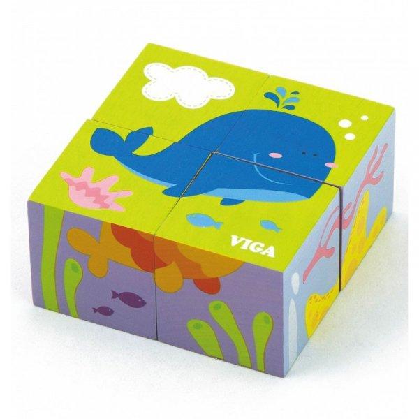 Drewniana układanka - 4 klocki - Viga Toys
