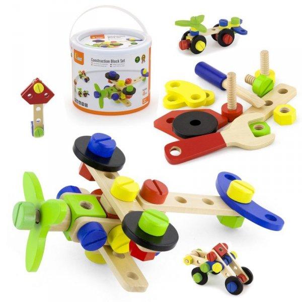 Drewniane Klocki Konstrukcyjne 48 Elementów - Viga Toys