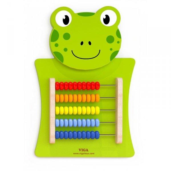 Drewniane Liczydło edukacyjne Żabka - Viga Toys