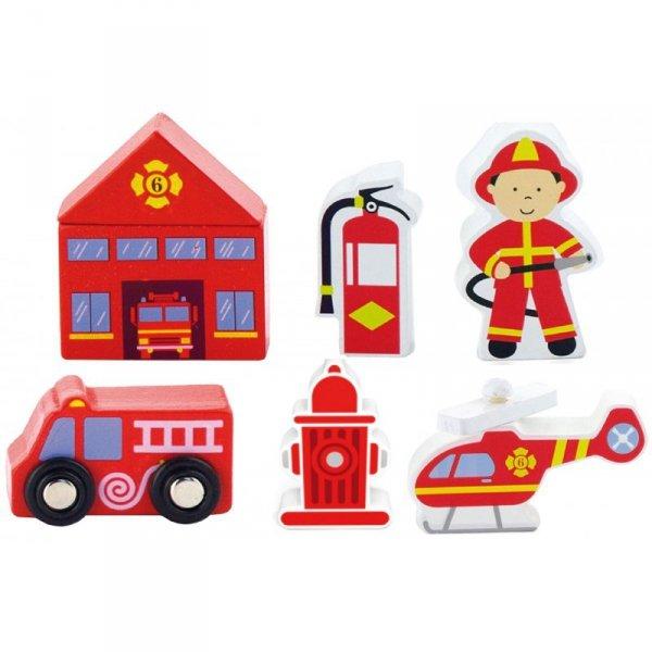 Zestaw figurek - Straż Pożarna - Akcesoria do kolejki - Viga Toys