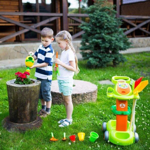 Wader Wózek Ogrodnika dla dzieci z Narzędziami 12 elementów