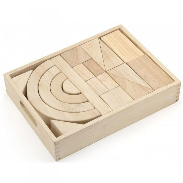 Drewniane klocki 42 elementy - Viga Toys