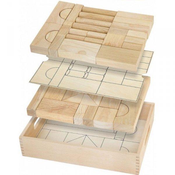 Drewniane klocki 46 elementy - Viga Toys