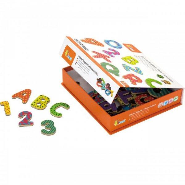 Drewniany Zestaw Magnetyczny Literki i cyferki - Viga Toys
