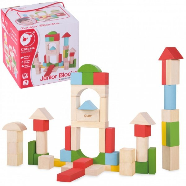 Drewniane Klocki Dla Dzieci - CLASSIC WORLD