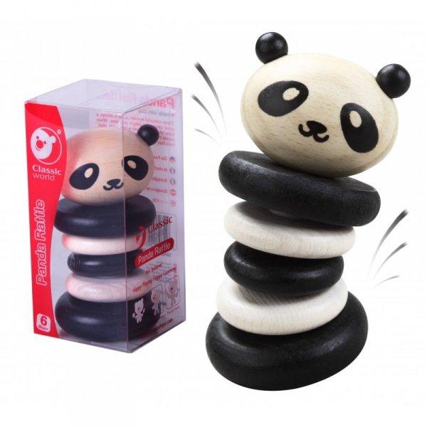 Grzechotka Drewniana  Czarno-Biała Panda -  Classic World