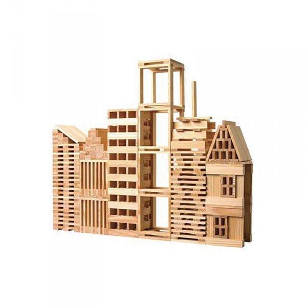 Drewniane Klocki Konstrukcyjne Klasyczny Świat 250 części - CLASSIC WORLD