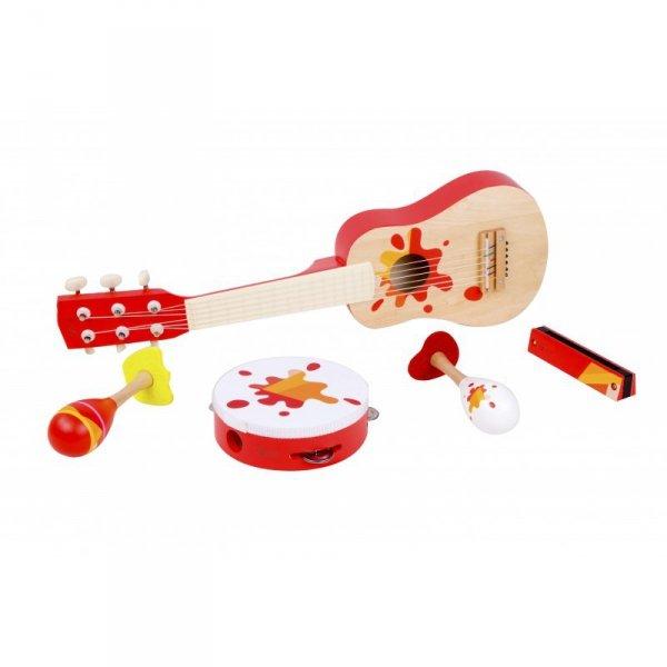 Zestaw Muzyczny Gitara Tamburyn + Akcesoria - Classic World