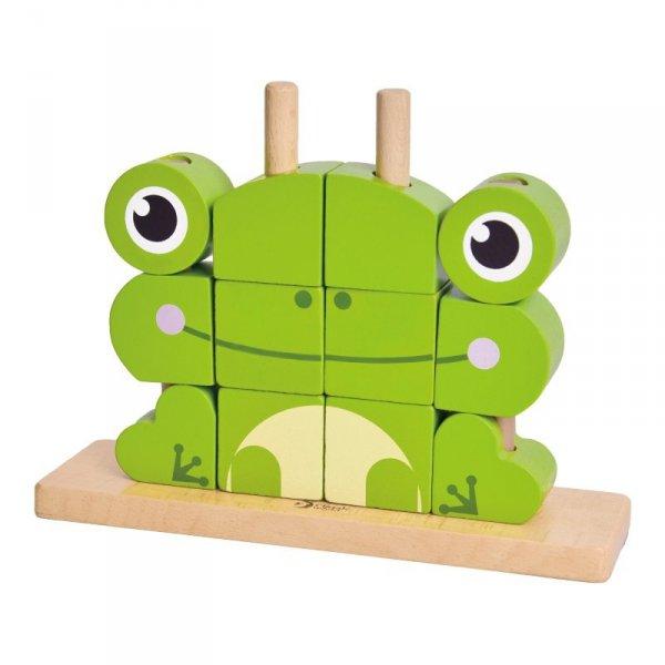 Drewniane Klocki Przestrzenne 3D Żaba - Classic World