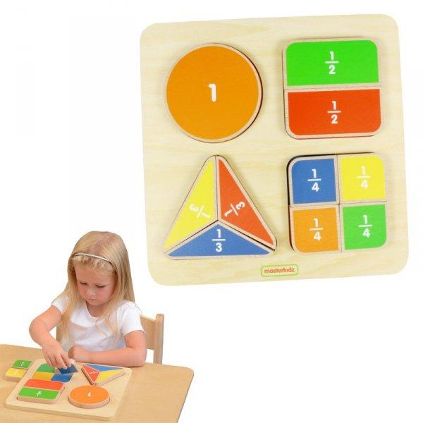 Matematyczna Tabliczka Edukacyjna Dzielenie Ułamki - Masterkidz