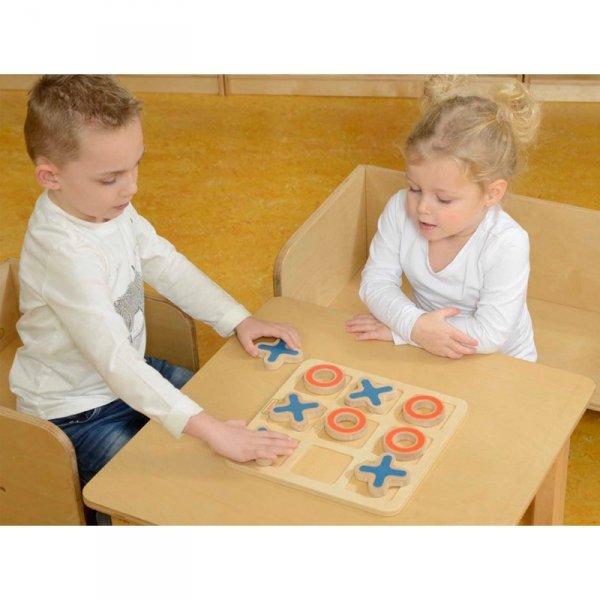 Kółko I Krzyżyk Drewniana Gra Dla Dzieci Logiczna Łamigłówka - Masterkidz