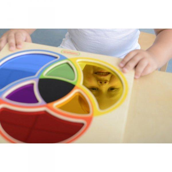 MASTERKIDZ Tablica Edukacyjna Lustro Nauka Mieszania Kolorów