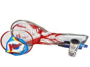 Badminton zestaw plus lotki w pokrowcu