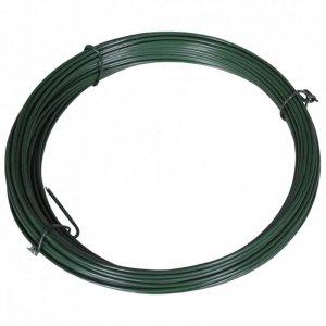 Drut naciągowy do ogrodzenia, 25 m, 1,4/2 mm, stalowy, zielony