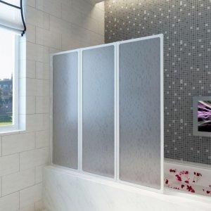 Drzwi prysznicowe, 117 x 120 cm, 3 panele, składane