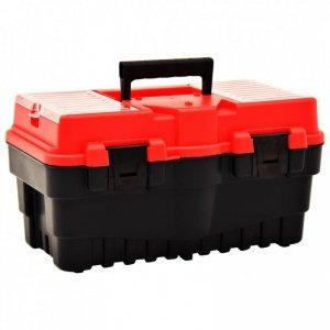 Skrzynka narzędziowa, plastikowa, 462x256x242 mm, czerwona