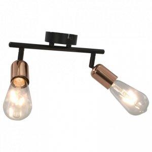 Lampa, 2 żarówki żarnikowe, 2 W, czarno-miedziana, E27