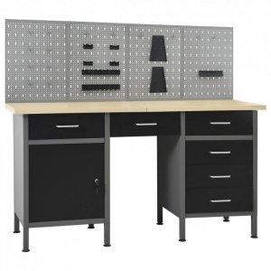 Stół roboczy z 4 panelami ściennymi