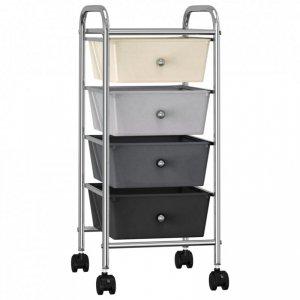 Wózek z 4 szufladami, ombre, plastikowy