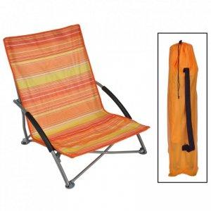 HI Składane krzesło plażowe, pomarańczowe, 65x55x25/65 cm