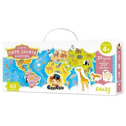 CzuCzu Puzzle Mapa świata, Zwierzęta figurki