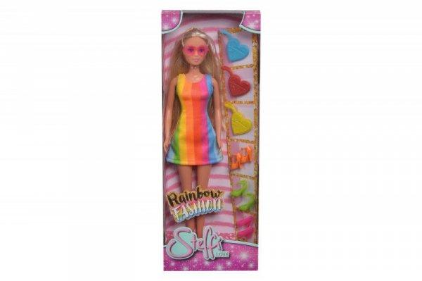 Lalka Steffi Tęczowa moda