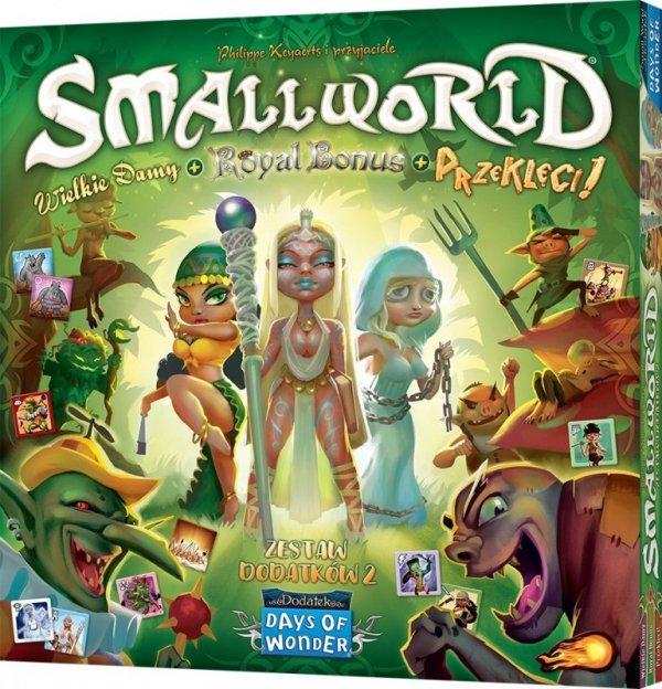 Gra Small World: Zestaw dodatków 2 - Wielkie damy + Royal Bonus + Przeklęci!