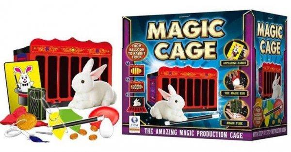 Sztuczki magiczne Magiczna klatka z króliczkiem