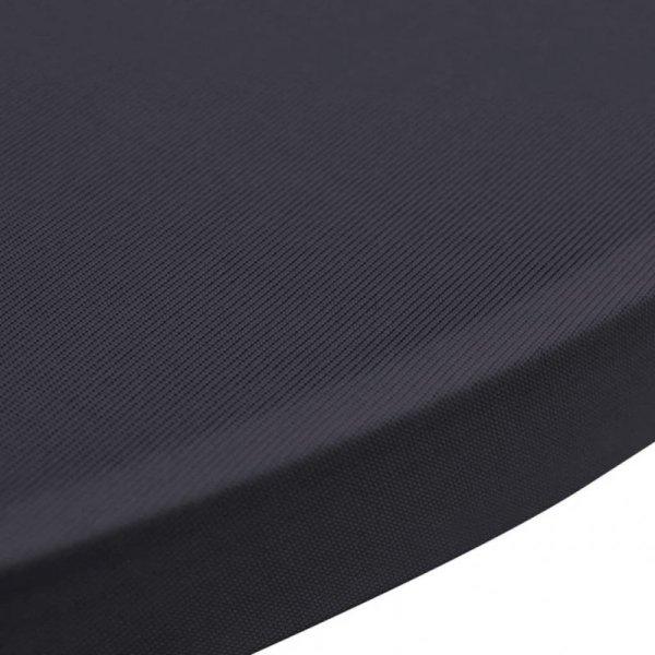 Elastyczne nakrycie stołu antracytowe 2 szt. 70 cm