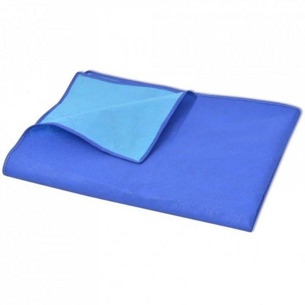 Koc piknikowy niebieski i błękitny, 150x200 cm